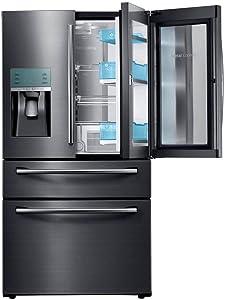"Samsung Appliance RF28JBEDBSG 36"" Energy Star Rated Food Showcase French Door Refrigerator in Black Stainless Steel"