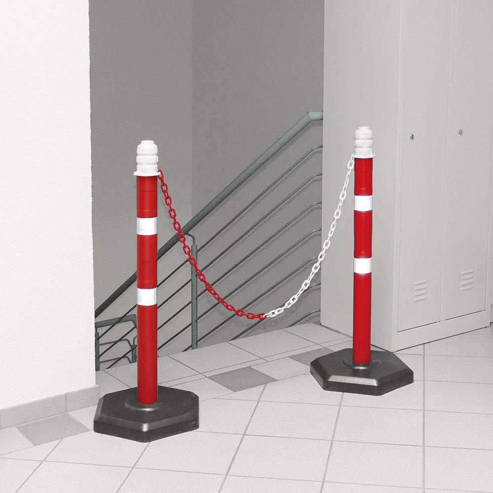 2 m Kette Kunststofffu/ß betongef/üllt Kettenpfosten Set mit 2 Kettenst/ändern 1000 mm hoch