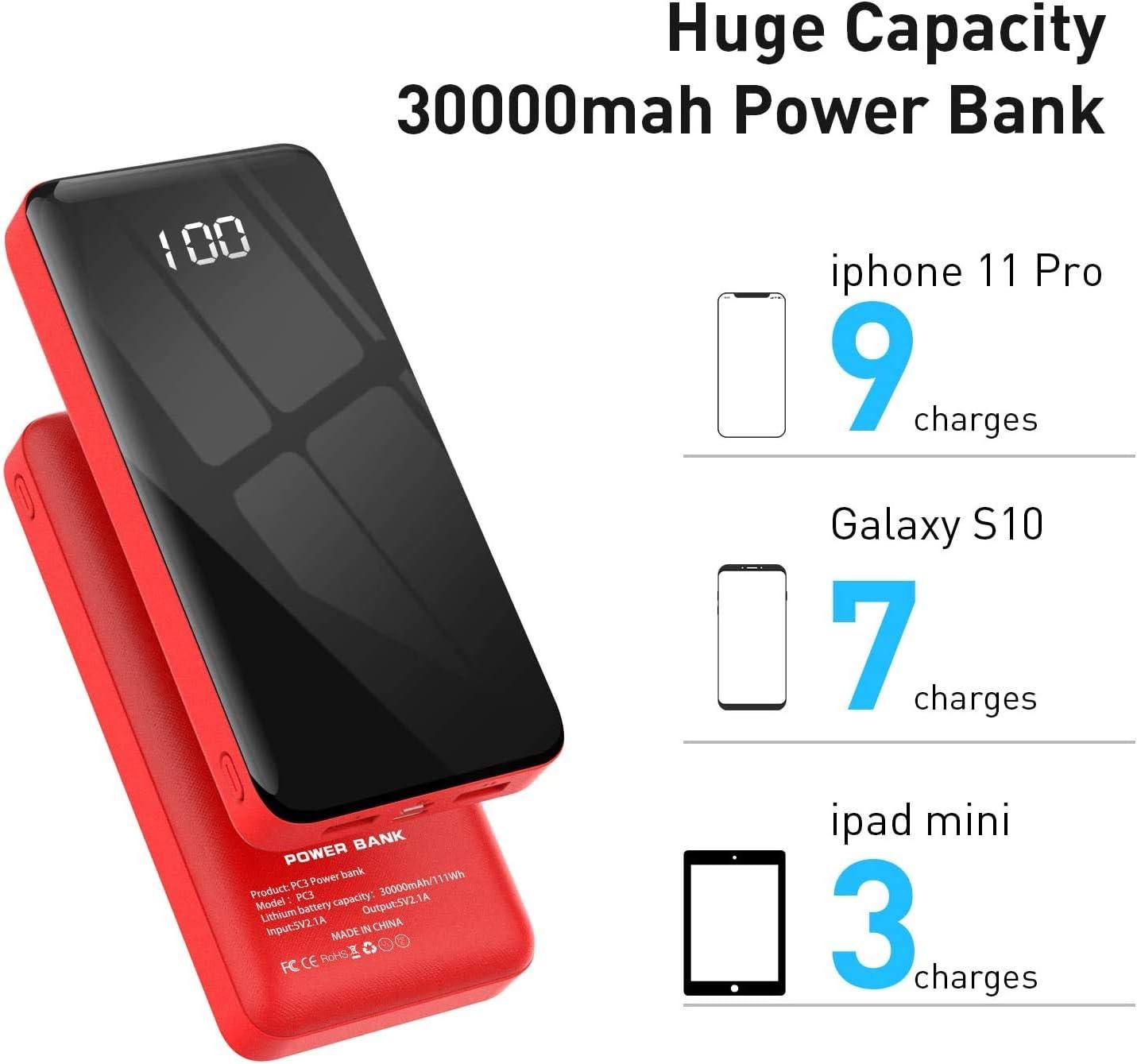 30000 mAh BEXTOO Bater/ía externa