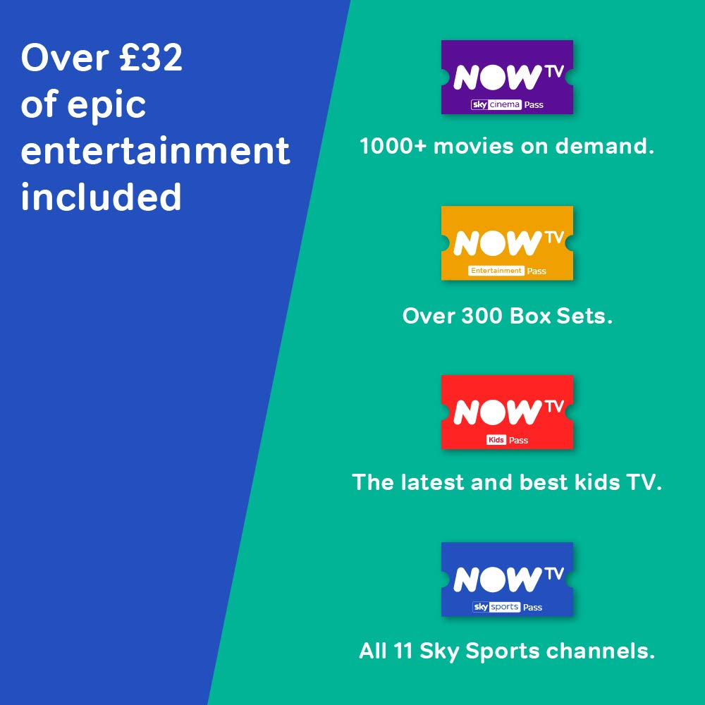 abc517831a1 NOW TV Smart Box with 4K and Voice Search including 4: Amazon.co.uk:  Electronics
