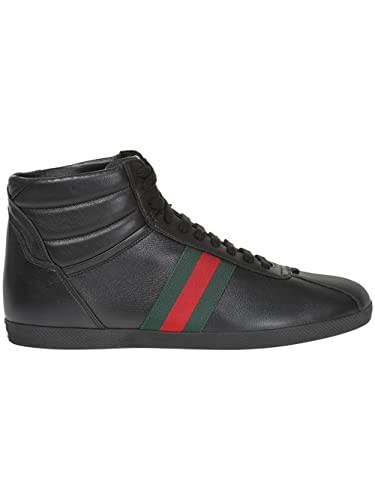 top fashion affordable price pretty cool Gucci Homme 429475AXWT01070 Noir Cuir Baskets Montantes ...