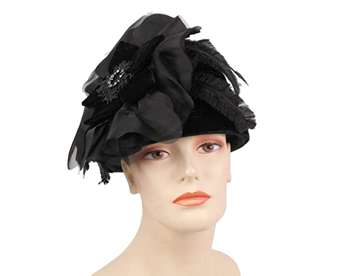 e13a7977c75 Women s Wool Church Dress Formal Hats by Ms Divine  59 (Black) at ...