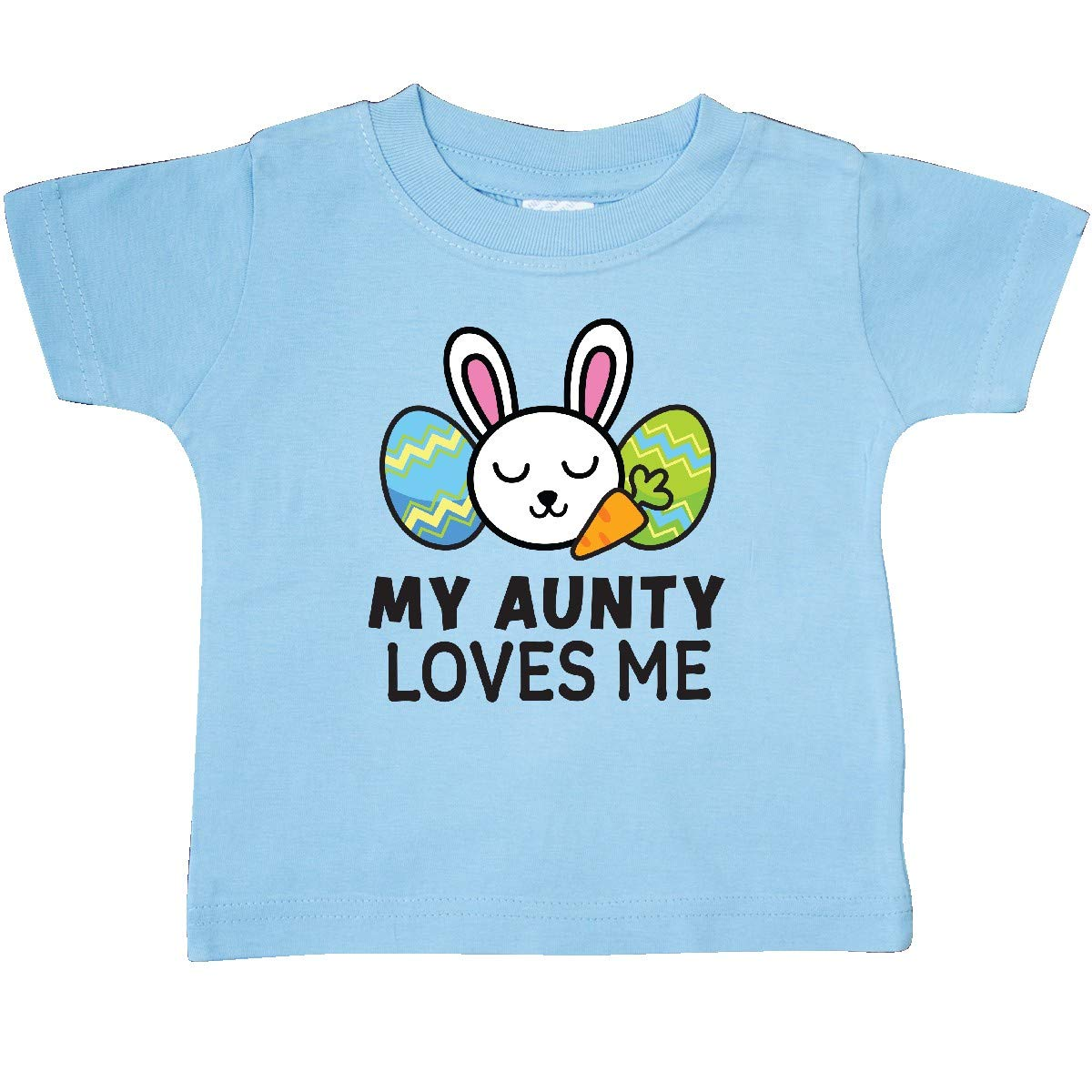 inktastic My Auntie Loves Me with Bunny and Easter Eggs Toddler T-Shirt