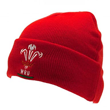 6b291b521 Official Wales Rugby Beanie Hat - Welsh Rugby Union Hat - Officially  Licensed