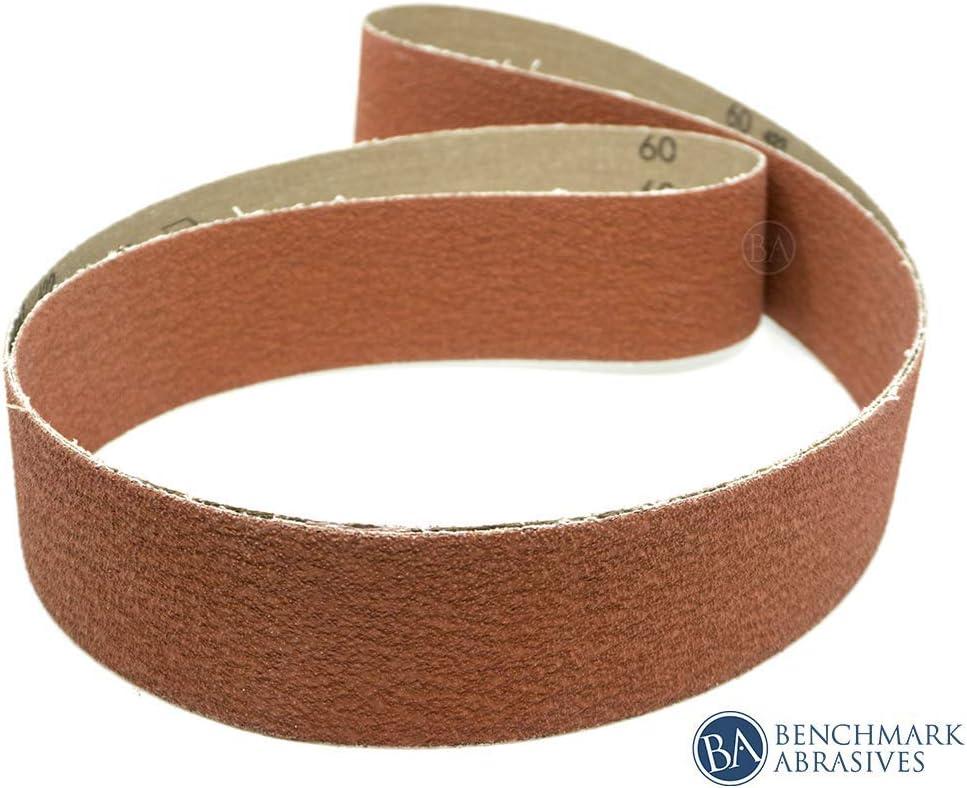 "2/"" x 72/""  Ceramic Sanding Belts 36 Grit 10 Belts"