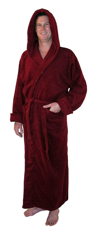 Amazon.com: Grand Blanc Men\'s Full Length Hooded Bathrobe Small ...