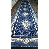 Rug Tycoon E503DBlue2ft7inby9ft10inRECRN Area Rug, 27 x910 rectangular runner