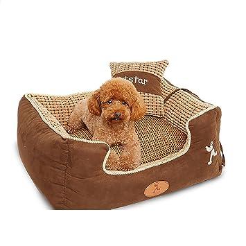 XXDP Casa de Perros Cama para Mascotas para Gatos y Perros Grandes medianos Grandes Mejores artículos para Mascotas con Lavado extraíble marrón (Tamaño ...