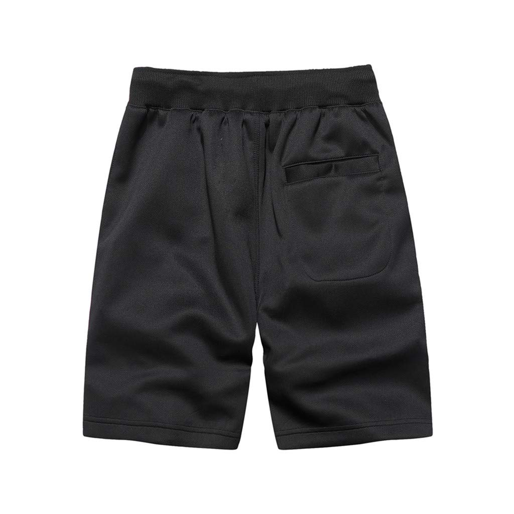 Men Sport Pants,Jchen Mens Casual Drawstring Sport Loose Jogging Pants Solid Color Shorts Pants Sweatpants (S, Black) by Jchen Men Pants (Image #2)