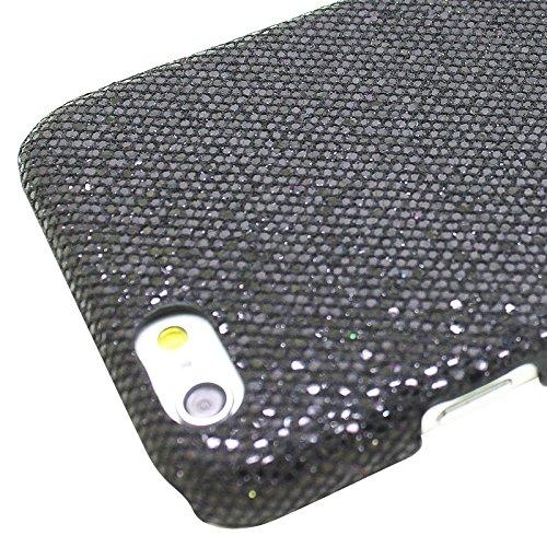 Phone Taschen & Schalen Für iPhone 6 Plus & 6S Plus, Shimmering Powder Galvanisieren Kunststoff Hard Case ( Color : Black )