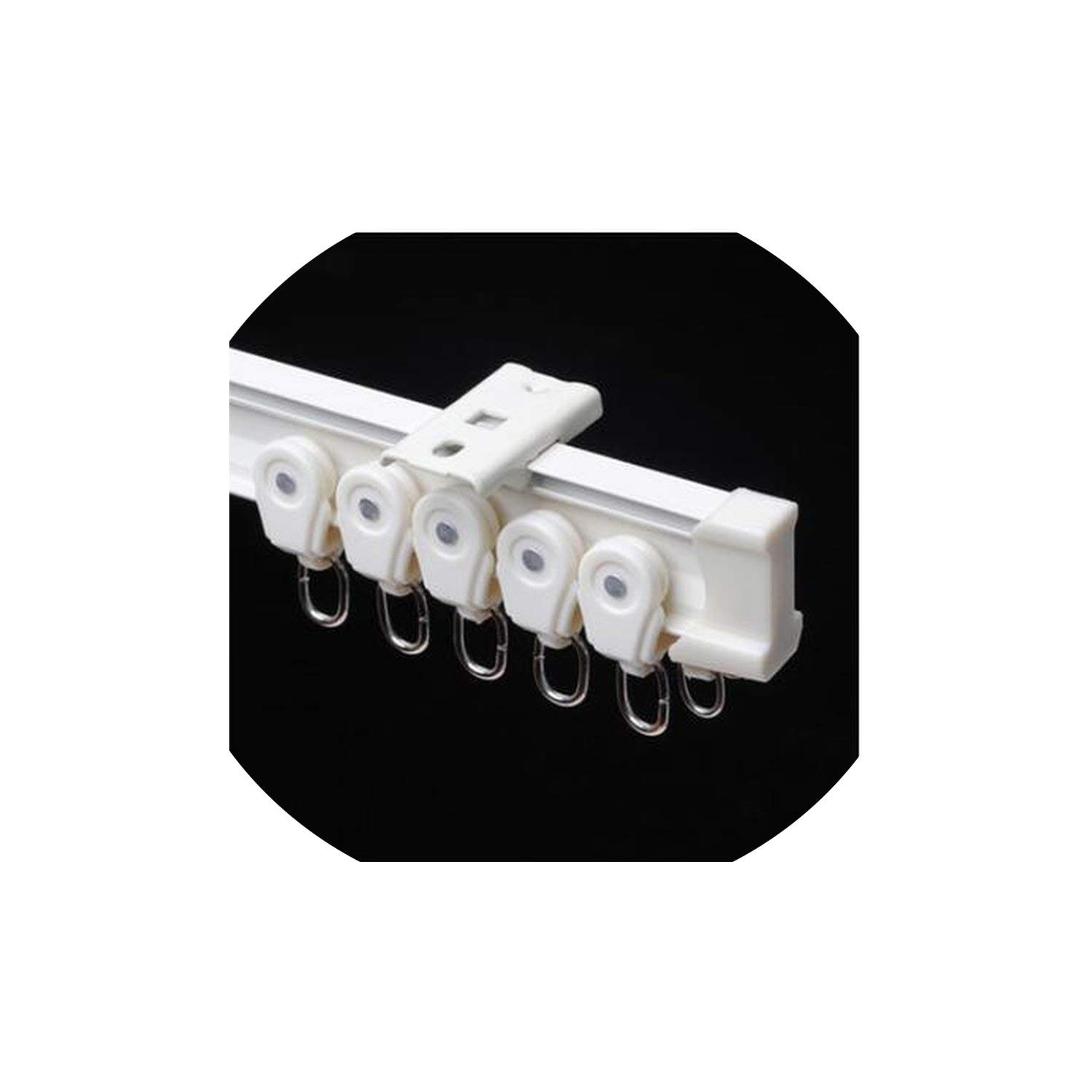 1Miter Rails Curved/Straight Track Plastic Flat Curved Track Curtain Hook Single Double Track Pole Accessories,1000Cm