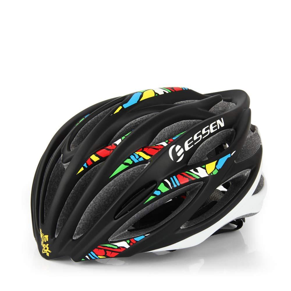 ヘルメット、自転車ヘルメット、高密度EPSキャップ材を使用、ヘルメットの耐衝撃性をワンピース設計で実現、体重わずか255g、頭囲54-59Cmに適しています   B07JBPK4W2