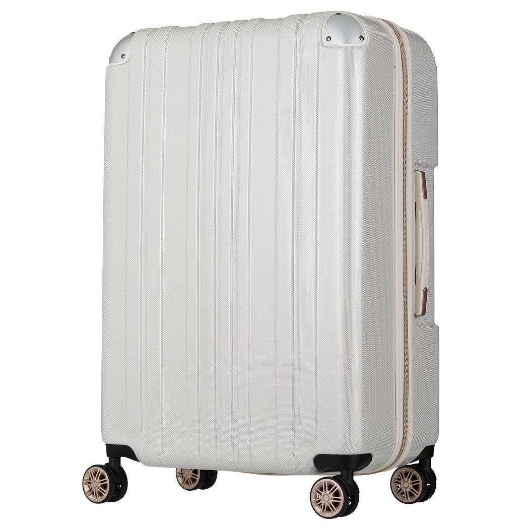 [アウトレット]スーツケース キャリーバッグ キャリーバック キャリーケース 無料受託手荷物 大型 L サイズ ダブルキャスター LEGEND WALKER レジェンドウォーカー 『B-5122Z-68』 ホワイトカーボン   B07PPBN2KN