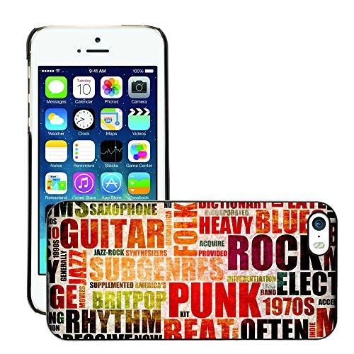 Premio Sottile Slim Cassa Custodia Case Cover Shell // V00002017 Musique de fond // Apple iPhone 5 5S 5G