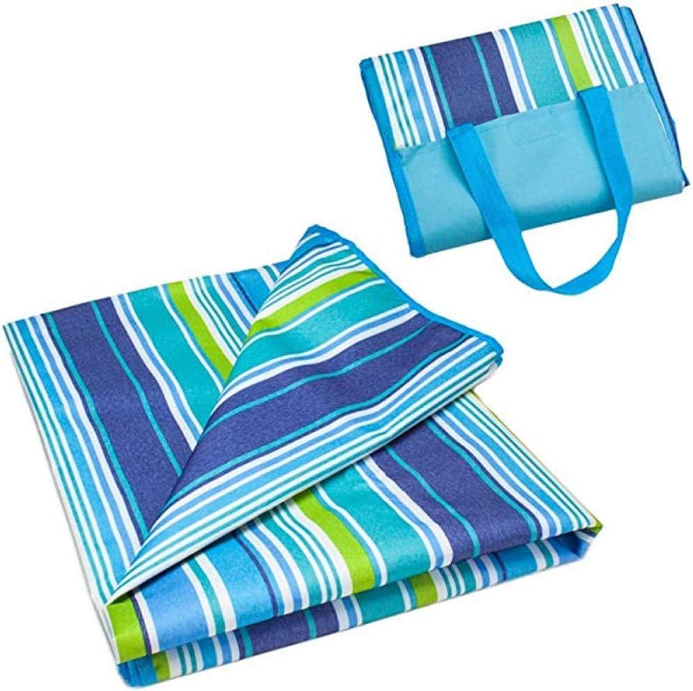 149 * 200cm Tappetino da campeggio pieghevole da picnic da spiaggia all'aperto Tappetino da campeggio impermeabile per dormire Tappeto antiumidità Coperta rosso blue