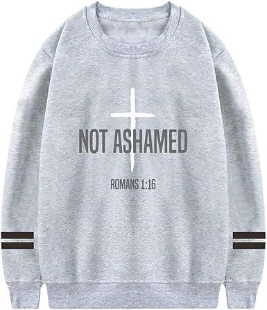 Wo-Sweater-Tee Not Ashamed Romans suéter de algodón Puro con ...
