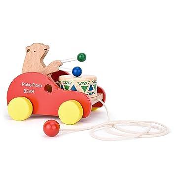 legnosicuro orso tirare cura e di Giocattolo giocattolo da tamburo giocattolo KJTlF1c3