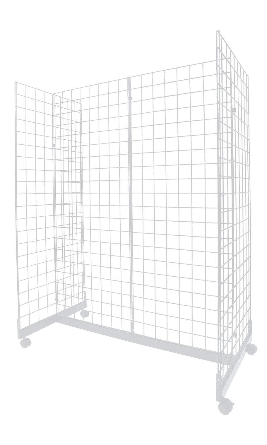 White Grid Gondola Unit - 24''W x 48''L x 66''H
