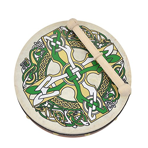 8'' Bodhran Irlandais Croix Gaélique by Waltons