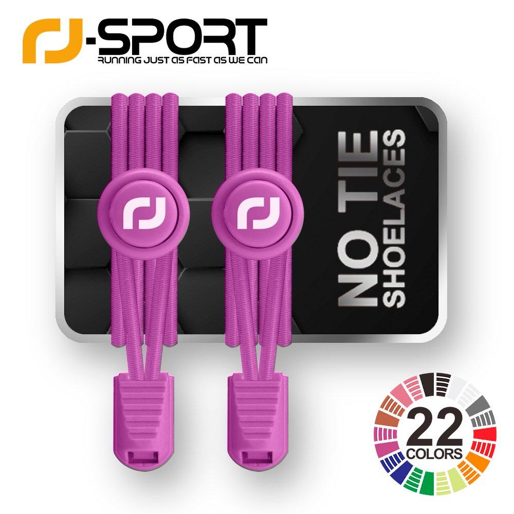RF-Sport ゴム 結ぶ必要のないシューレース ノータイゴムレースシステム ロック付き 様々な色で使いやすい商品ランナー/お子様に最適 1対 B073SMVDSM  ピンク2