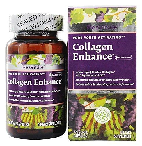 (ResVitale - Collagen Enhance 1000 mg. - 120 Vegetarian Capsules by)