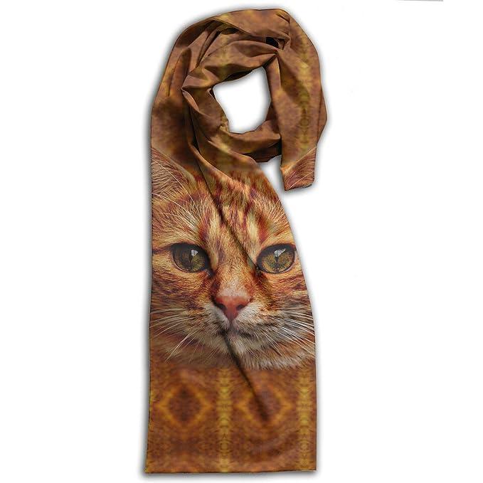 Amazon.com: Naranja lindo gatos largas bufandas para mujer ...