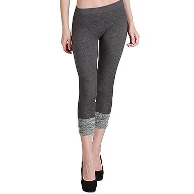 85c6eb38cae54b Nikibiki Thick Two Tone Shirring Capri Leggings Made From 92% Nylon and 8%  Spandex