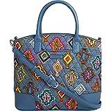 Vera Bradley Women's Day Off Satchel Painted Medallions/Mineral Blue Handbag