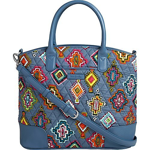 Vera Bradley Women's Day Off Satchel Painted Medallions/Mineral Blue Handbag