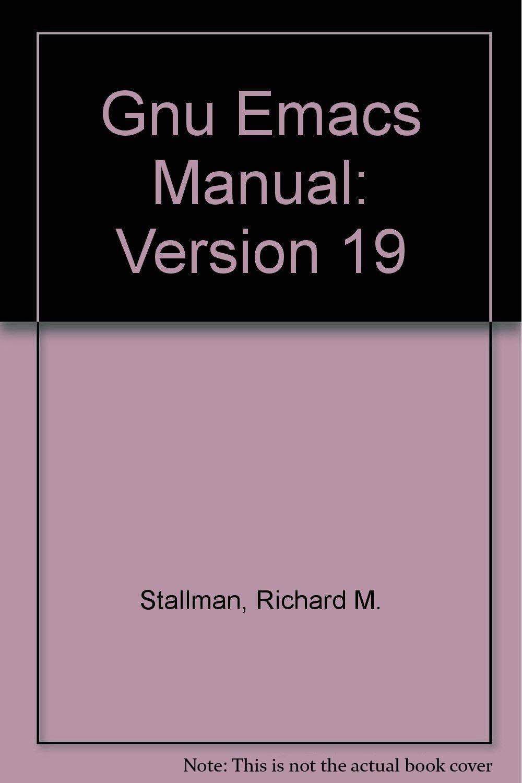 GNU Emacs Manual