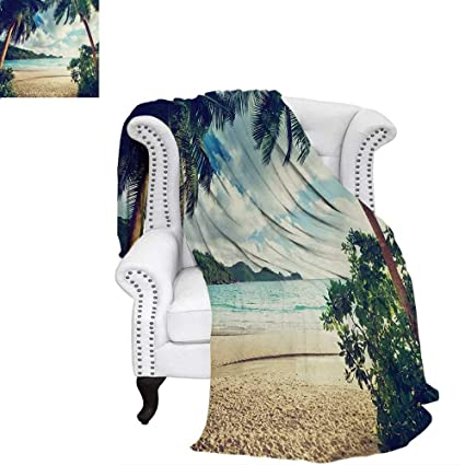Amazon.com: warmfamily Palm Tree Velvet Plush Throw Blanket ...