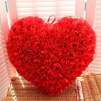 PragAart Heart Shape Rose Soft Plush Gift Festival Home Decor Valentines Birthday Gifts