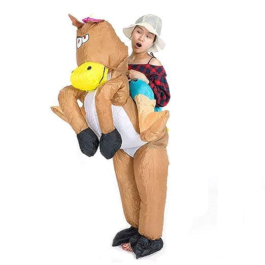 Mujer Inflable Caballo Disfraz Gracioso Animal Equitación ...