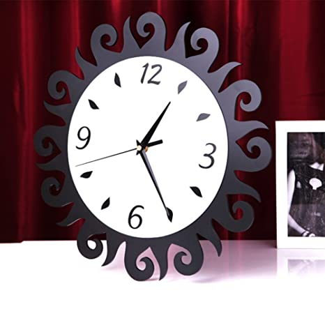 Reloj de pared creativo de moda/Sol flor relojes modernos/ arte de salón reloj