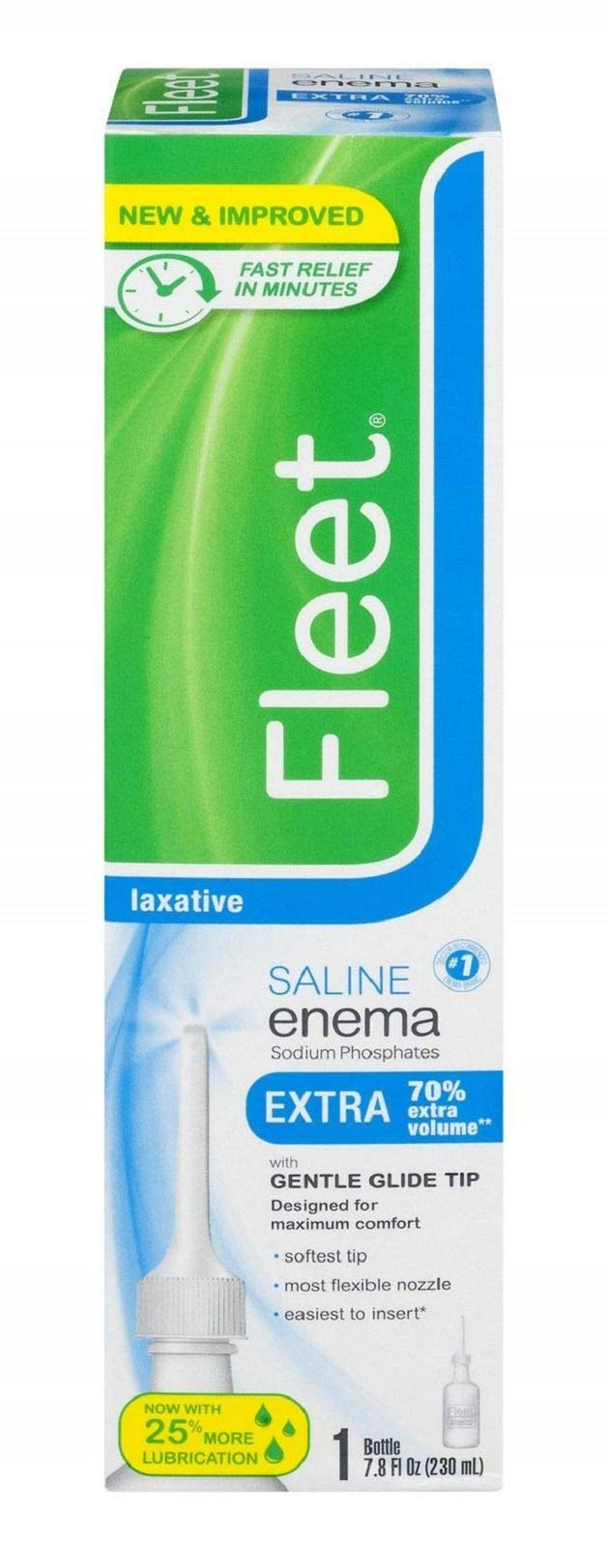 Fleet Saline Laxative Enema, 7.8 fluid ounces - Packaging May Vary