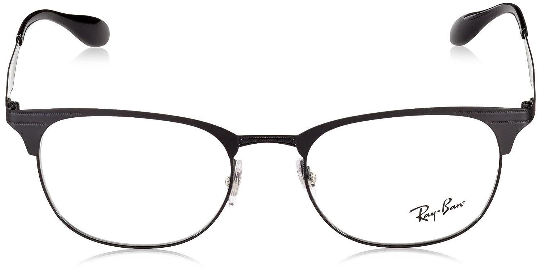 8dcbcf8890e Amazon.com  Ray-Ban 0rx6346 No Polarization Square Prescription Eyewear  Frame Matte Black