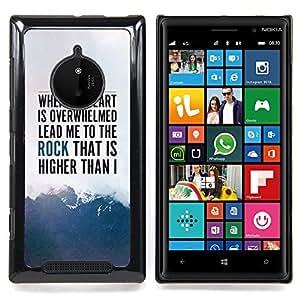 Jordan Colourful Shop - Heart Rock Inspiring Mountains Text Sky For Nokia Lumia 830 - < Personalizado negro cubierta de la caja de pl??stico > -