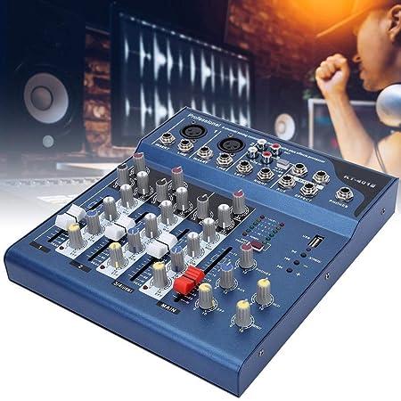 Rosvola Mezclador de Audio de 4 Canales - Pantalla LED Profesional ...