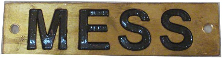 FOR MASTER – Marine BRASS Door Sign Boat//Nautical 9 x 1 Inches 211
