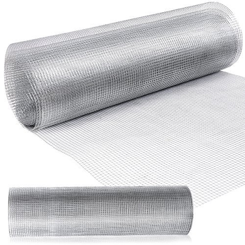 Goplus 1/2 inch Hardware Cloth Galvanized Welded Cage Wire, Plant Supports Poultry Enclosure Rabbit Chicken Run Fence Window Doors Wire Fence (36'' x 50')