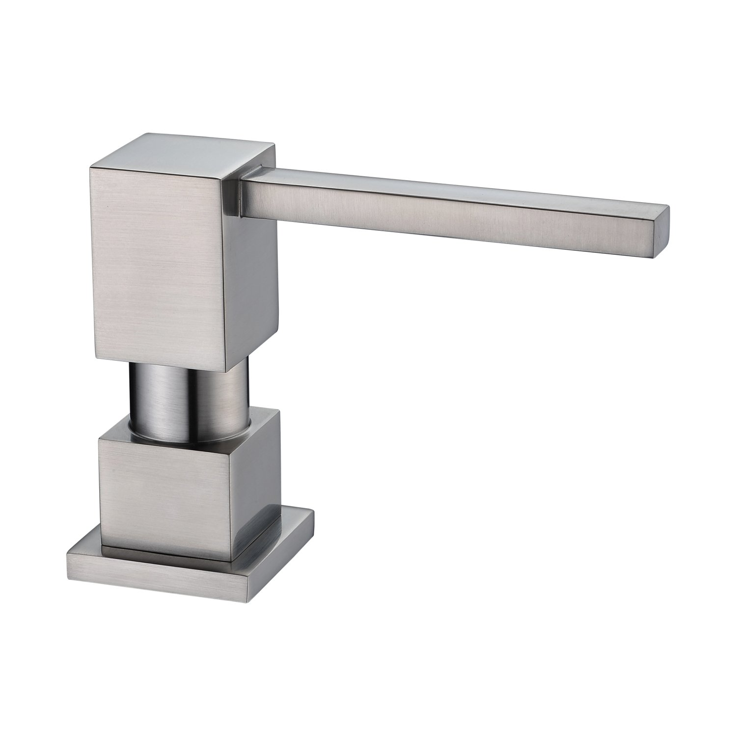 LAZADA Contemporary Design Kitchen Sink Countertop Soap Dispenser, Built in Hand Soap Dispenser Pump Brushed Nickel