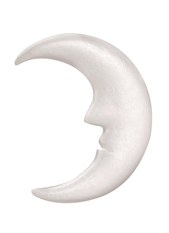 bastelkoerble® Styroporfigur , Mond , 23 cm , Pailletten , Deko , Styropor