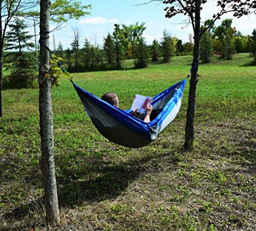 Adventure Hammock, Camping Hammock, Made of Parachute Nylon, Folds Into Light Weight Carry Bag