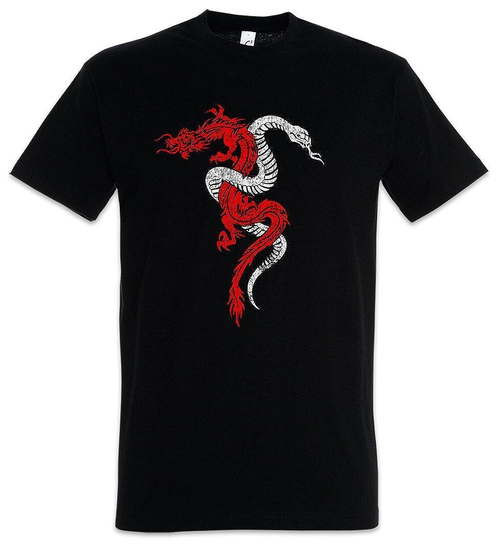 Urban Backwoods Dragon /& Snake Sign T-Shirt Drago Serpente Dragon Serpent Drache und Schlange Tattoo Rpg Game Taglie S 5XL