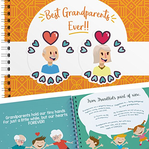 Grandparents Humor Memory Book - A Hardcover Scrapbook Journal Filled With Lovely Quotes And Places To Paste Pictures Of You And Your Grandparents! The Perfect Gift for Grandma And Grandpa!