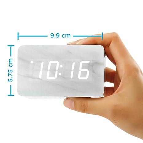 Amazon.com: Oct17 - Reloj despertador con patrón de mármol ...