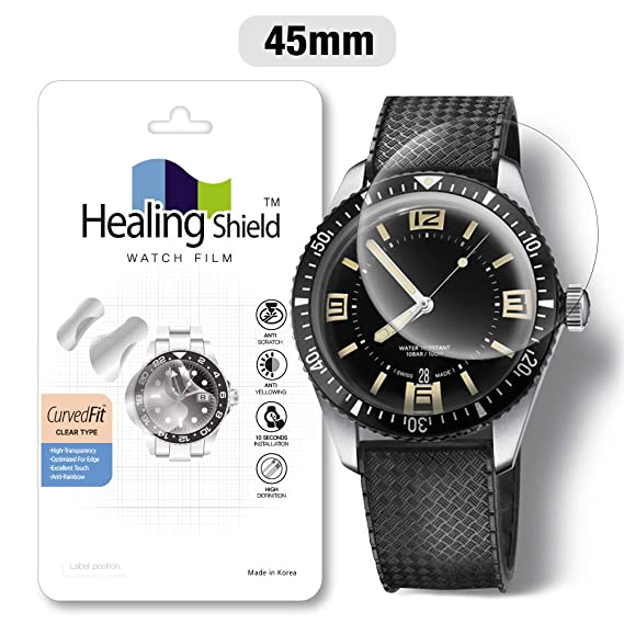 f6ba9e3108795 Smartwatch Screen Protector Film 45mm for Round Wrist Watch Healing Shield  Analog Watch Glass Screen Protection Film (45mm) [1PACK]