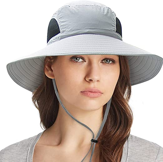 Ordenado Waterproof Sun Hat Outdoor UV Protection Bucket Mesh Boonie Hat