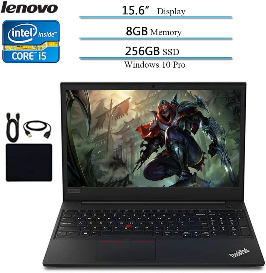 Lenovo 2020 Premium Flagship ThinkPad E590 15.6 Inch HD Laptop (8th Gen Intel Core i5-8265U up to 3.9 GHz, 8GB DDR4 RAM, 256GB SSD) Bluetooth 5.0, HDMI, Windows 10 Pro
