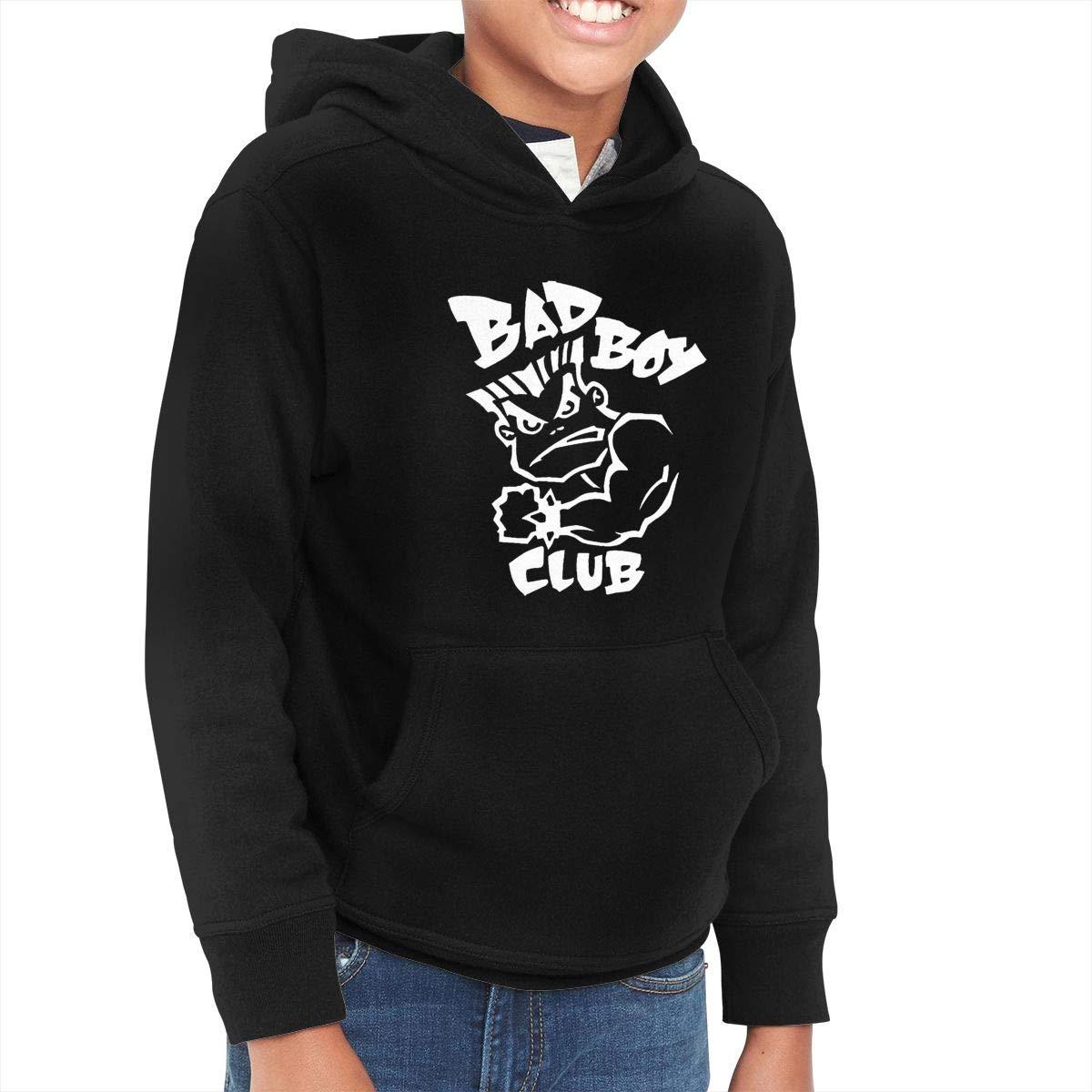 Eggpapa Bad Logo '&children's Hooded Pocket Sweater Black Shirts